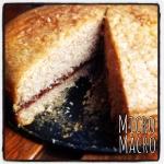 pan di spagna vegan di farro con composta bio di susine