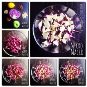 insalata cavolo rosso mela e frutta secca
