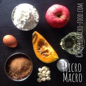 plumcake-alla-zucca-e-mele-ingredienti-micromacro-food